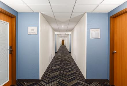 Renovated Hallways In The West Tower