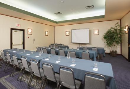 Our meeting room is ideal for small meetings, receptions, weddings and gatherings.  650 sq feet with onsite catering services available.