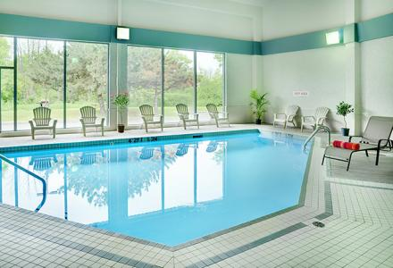 Indoor salt water pool, open daily from 6am - 11pm.