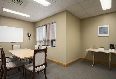 Board room, ideal for small meetings, interviews & visits.