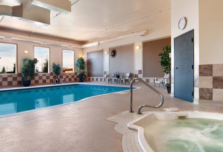 Heated indoor swimming pool and hot tub, open daily from 8:00am - 10:00pm.