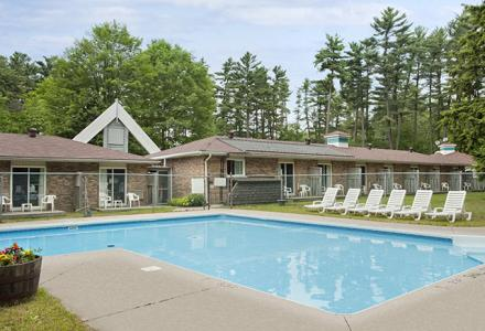 Heated outdoor pool, open seasonally from 9:00am - 9:00pm.
