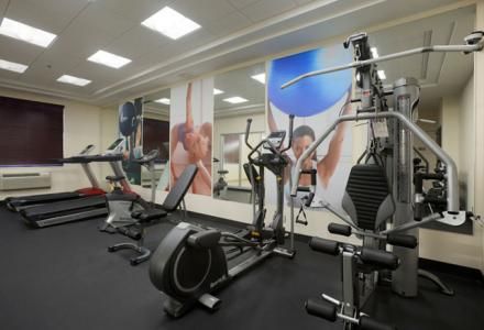 Onsite fitness centre for your enjoyment, open daily from 6:00am to 11:00pm.