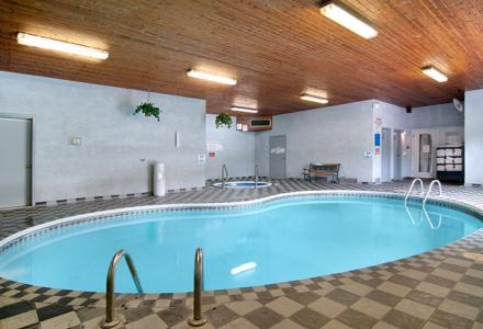 Relax in the indoor heated pool, open daily from 2:00pm - 10:00pm.
