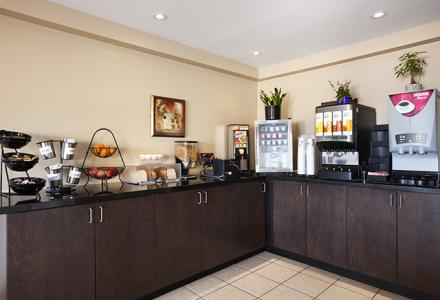 Guests will enjoy complimentary continental breakfast, served daily from 7:00 - 10:00am.