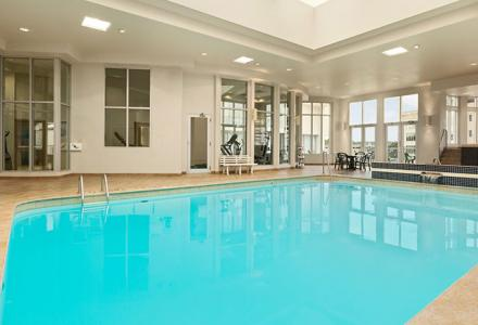 Heated indoor pool, open daily from xx - xx.