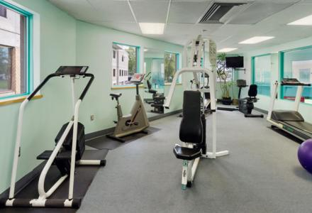 Spacious sauna and fitness/cardio center, open daily from 6:00am - 10:00pm.