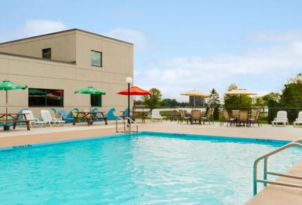Enjoy our heated outdoor pool. Open Daily from 6AM-10PM.