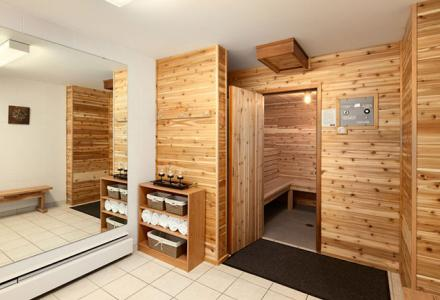 Newly renovated Sauna area, with shower, towels and cooling area. Open for guest use every day until 10pm.