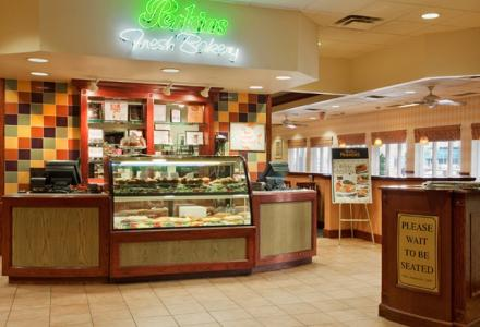 On-site Perkins Restaurant & Bakery, open daily from 6:00am - 10:00pm for breakfast, lunch and dinner.