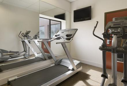 Onsite fitness facility, open 7:00am - 11:00pm daily.