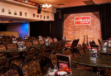 The Comedy Cave features live entertainment and an extensive menu.  Contact the hotel for show details.