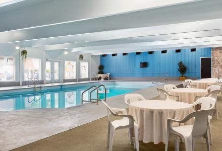 Indoor pool and hot tub, open daily from 8:00am - 10:00pm.