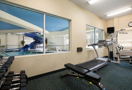 Fitness center, open 6 am - 10 pm daily.
