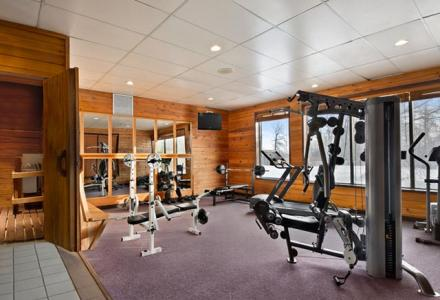 On-site gym, open daily for guest use.