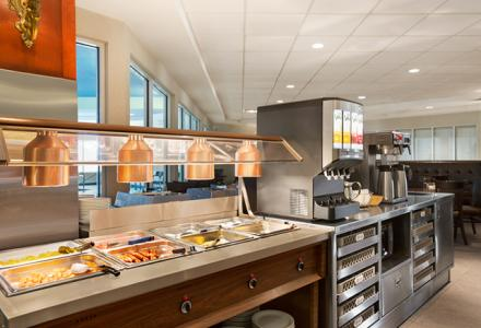 Free hot deluxe breakfast buffet, served daily 6:00 am - 10:00 am in the breakfast room.