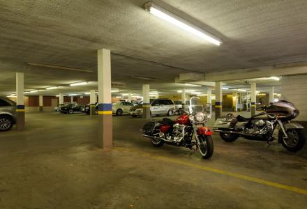 Free indoor guest parking