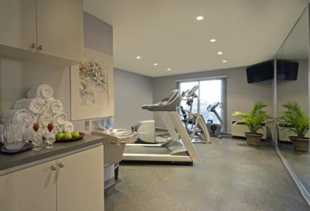 Onsite fitness centre, open daily.