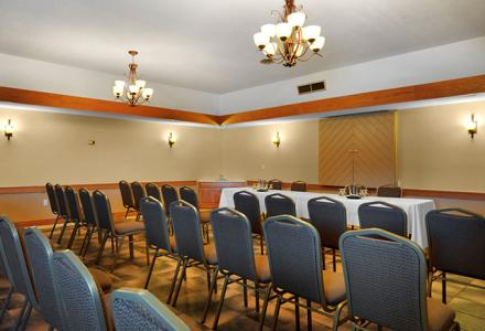 Meeting room to accommodate up to 40 people, with onsite audio/visual services.