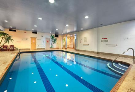 Relax in the heated indoor pool and hot tub, open daily from 7:00am - 10:00pm