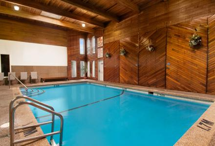 Relax in our indoor heated pool and sauna, open daily from 9:00am - 10:00pm