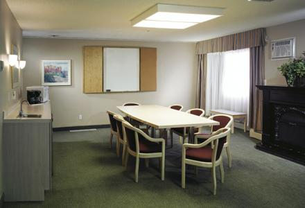 Meeting room to accommodate up to 20 people, with audio/visual equipment available on-site.