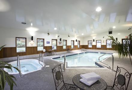 Enjoy our indoor heated pool and hot-tub, open daily from 7:00am - 10:30pm.