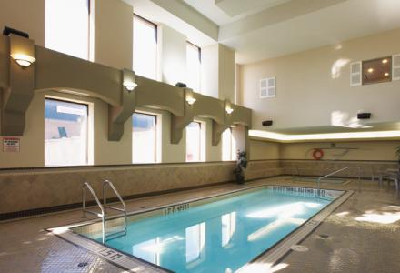 Heated indoor pool, open daily.