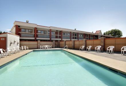 Outdoor heated salt-water pool, open seasonally.