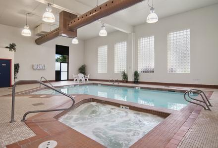 Guests will enjoy the heated indoor pool and whirlpool, open daily from 7:00am - 10:00pm