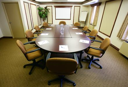 Board meeting room can accommodate up to 20 people.