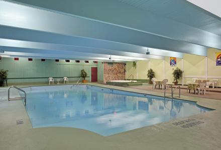 Indoor pool and hot tub, open daily from 8:00am - 10:00pm