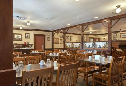 Onsite restaurant, open daily from 7:00am - 10:00pm, serving breakfast, lunch and dinner