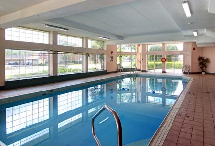 Indoor pool with hot-tub, open daily from 9:00am - 10:00pm.