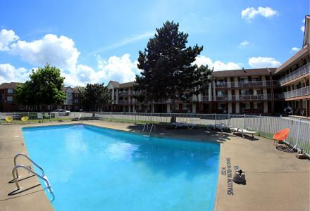 Outdoor pool, open seasonally from 9:00am - 10:00pm.