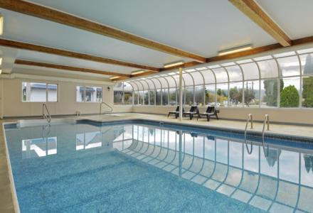 Heated indoor swimming pool and hot-tub, open daily from 7:00am - 10:00pm.