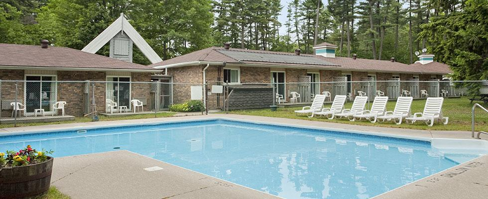 Outdoor pool in the Muskokas